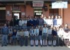 Geförderte Kinder mit unseren vier Lehrern